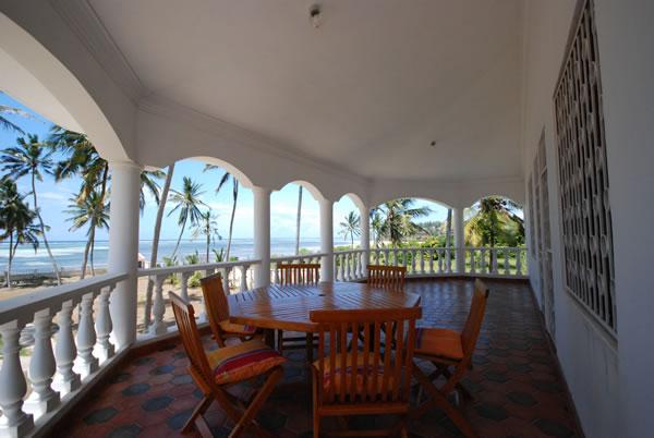 The balcony upstairs
