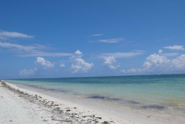 Beach - mid high tide